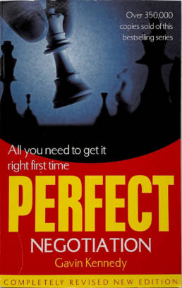 Perfect Negotiation Book by Gavin Kennedy