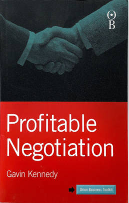 Profitable Negotiation Book by Gavin Kennedy